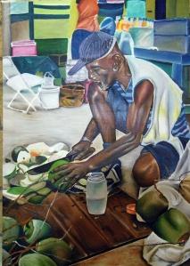 coconut man by Glenroy Aaron